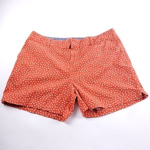 Maurice's Womens Orange Polkadot Shorts Size 15/16